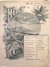 Hawaiian Sheet Music: 'Mele Hawaii: Kaiulani'