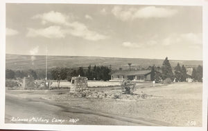 Vintage Real Photo Post Card Of Kilauea Military Camp In Volcano Hawaii