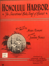 Hawaiian Sheet Music: 'Honolulu Harbor'