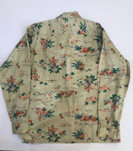 Sea Island Vintage Aloha Hawaiian Silky Shirt, M, Long Sleeve