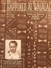 Hawaiian Sheet Music: 'It Happened At Waialae'
