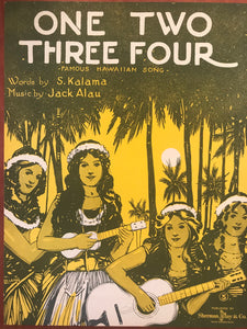 Hawaiian Sheet Music: 'One Two Three Four'