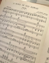 Hawaiian Sheet Music: 'A Song of Old Hawaii'