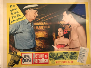 "Vintage Lobby Card From ""Return to Paradise"""