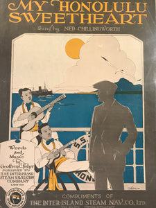 Hawaiian Sheet Music: 'My Honolulu Sweetheart'