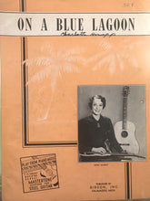 Hawaiian Sheet Music: 'On A Blue Lagoon'