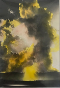 1920's Hand Colored  Silver Print Photograph Of A Cloud View Hawaii