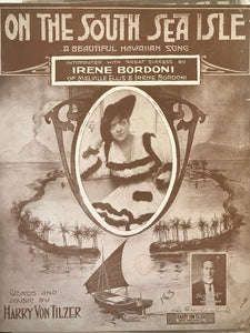 Hawaiian Sheet Music: 'On The South Sea Isle'