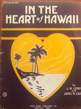Hawaiian Sheet Music: 'In The Heart Of Hawaii'