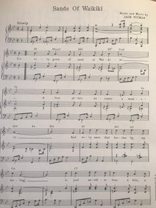 Hawaiian Sheet Music: 'Sands Of Waikiki'