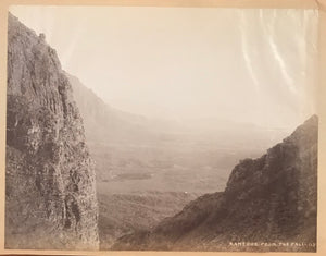 1890's Vintage Albumen Photograph of Kaneohe From The Pali