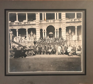 1920's Vintage Photograph Of Shriners In Front Of Iolani Palace