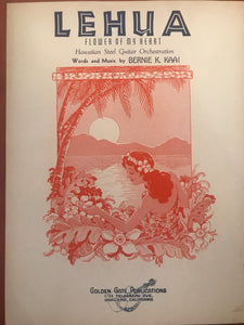 Hawaiian Sheet Music: 'Lehua'