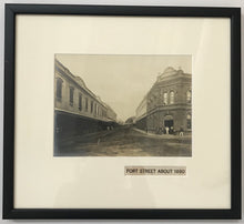 1878 Vintage Photograph Of Fort Street Honolulu Hawaii