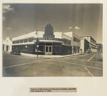 1941 Vintage Photgraph Of Corner Of Richards & Merchant St Honolulu Hawaii