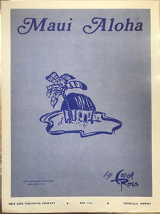 Hawaiian Sheet Music: 'Maui Aloha'