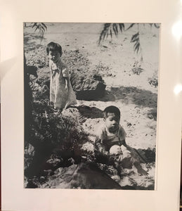 1930's Original Weston Photograph Of Two Children On A Beach In Hawaii