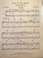 Hawaiian Sheet Music: 'Song Of The Islands'