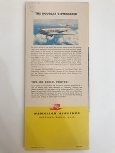 1960's Vintage Hawaiian Airlines Route Map Brochure