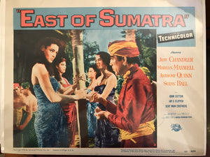 "Set of Five Lobby Cards From ""East of Sumatra"""