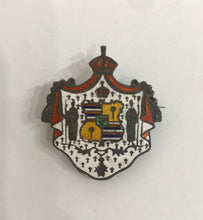 Collectible Vintage Sterling Silver And Enamel Royal Coat Of Arms Pin