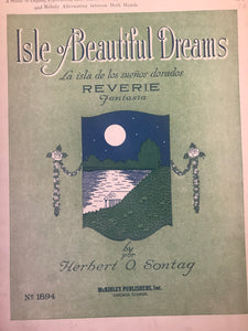 Hawaiian Sheet Music: 'Isle Of Beautiful Dreams'