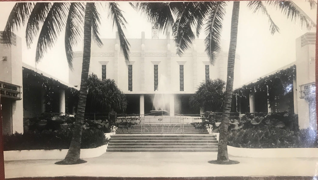 Vintage Photograph Of Waikiki Theatre In, Honolulu Hawaii