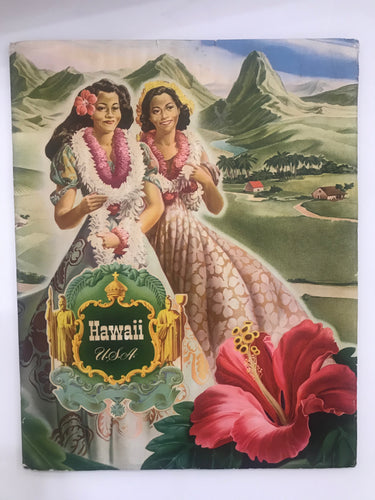 1942 Hawaii USA Travel Guide Book Visitors Tourist Bureau Vintage WWII Era
