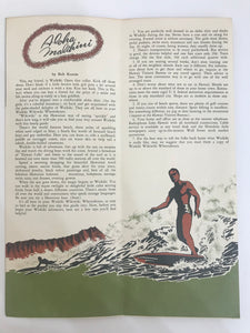 Vintage Travel Brochure And Map Of Oahu Hawaii