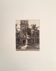 King Kamehameha Statue Albumen Photo (circa 1890)