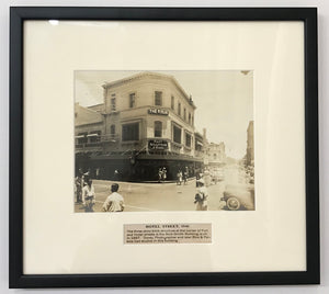 1941 Vintage Photograph Of Hotel Street Honolulu Hawaii