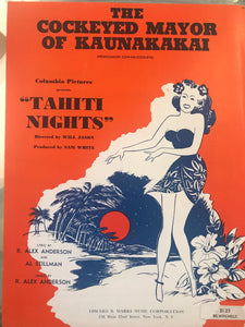 Hawaiian Sheet Music: 'The Cockeyed Mayor Of Kaunakakai' RARE MINT