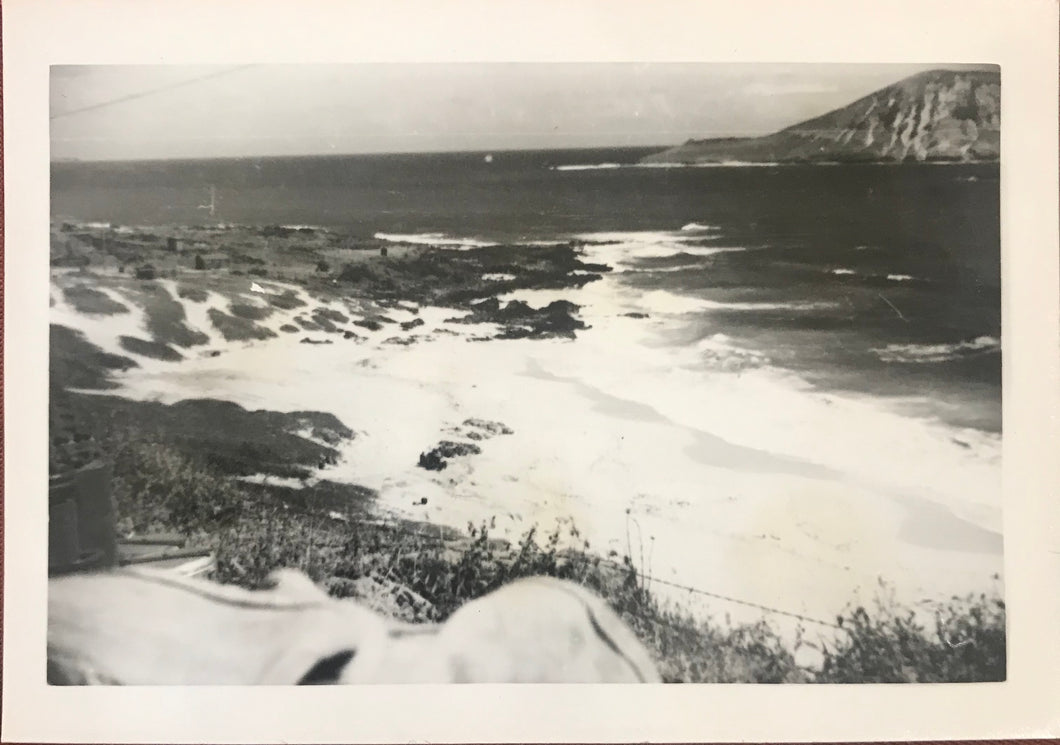 Vintage Photograph Of The Shoreline In Honolulu Hawaii