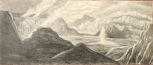 Set Of Four Original Drawings of Hawaii from 1924