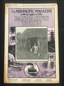 November 1918 Mid Pacific Magazine Vol.16 No.5, Pub. Alexander Hume, Hawaii