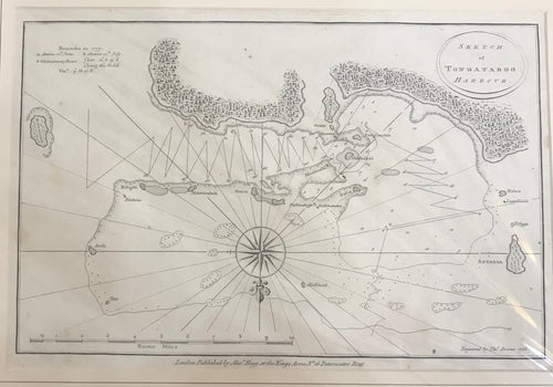 1777 Sketch of Tongataboo Harbour Map