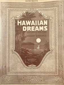 Hawaiian Sheet Music: 'Hawaiian Dreams' Instrumental