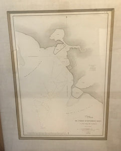 RARE 1819 Plan Du Port D'Onorourou Sur I'ile Wahou (Iles Sandwich) Map Hawaii
