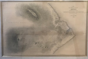Map of Part of the Island of Hawaii Shewing the Craters and Eruption of 1840