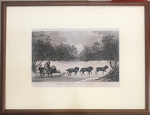 'A Man Of Kamtschatka, Travelling In Winter' 1784 Webber Engraving, Cook's 3rd Voyage