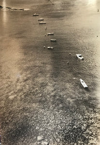 1950's Vintage Photograph Of Lanai Harbor