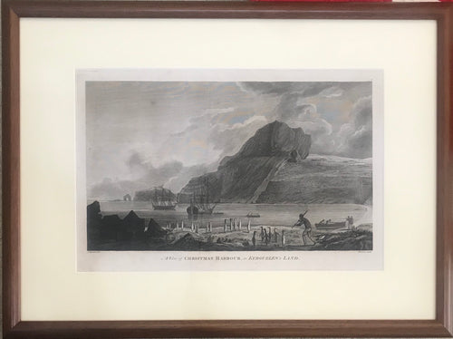 'A View Of Christmas Harbor, In Kerguelen's Land' 1784 Webber Engraving From Cook's 3rd Voyage