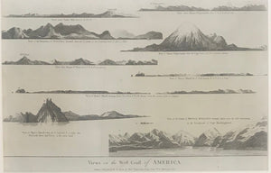 'Views On The Weft Coaft Of America' Engraving From Cook's Voyages Pub. Alex Hogg
