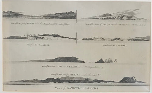HAWAII ISLANDS 1784 ANDERSON ORIGINAL ENGRAVED VIEW