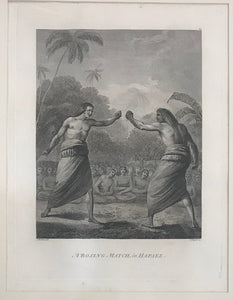 'A Boxing Match, in Hapaee' Tonga 1784 Webber Engraving, Cooks 3rd Voyage