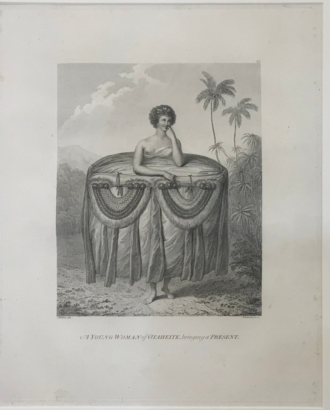 'A Young Woman Of Otaheite, Bringing A Present