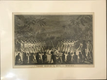 'A Night Dance By Men In Hapaee' Tonga, Webber Engraving, Pub. Alex Hoggs