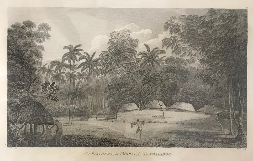 'A Fiatooka, Or Morai, In Tongataboo' Tonga, 1784 Webber Engraving