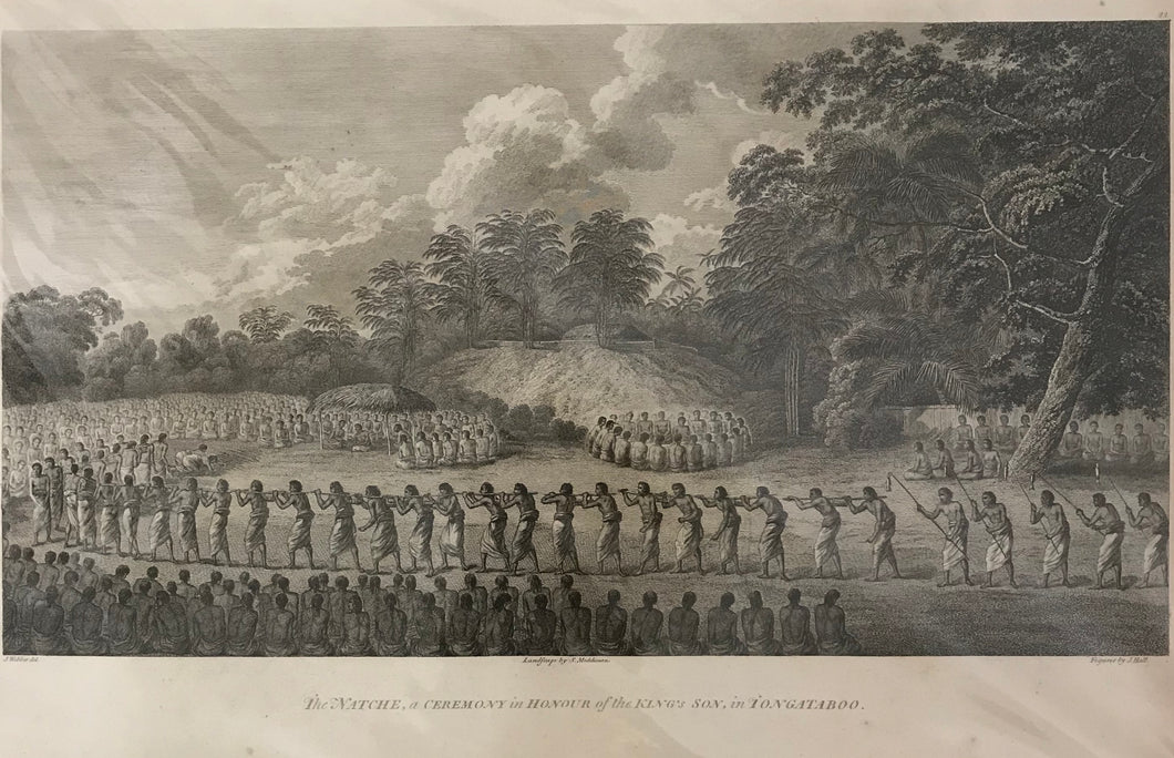 'The Natche, A Ceremony In Honor Of The King's Son, In Tongataboo' Engraving