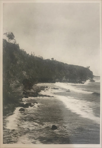 'Hamakua Coast' Original 1890 Engraving Of Hawaii